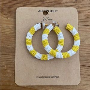 Alison Lou for Jcrew Beaded Stripe Hoops